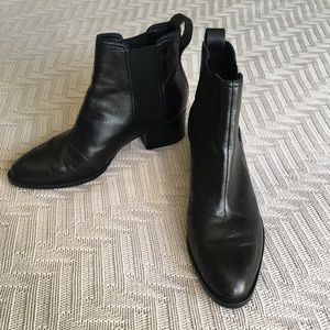 Rag & Bone black leather Walker boots, size 8.5